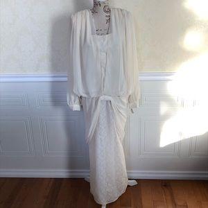 Vintage Drop Waist, Long Sleeve Gown